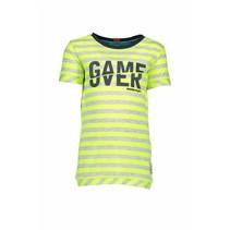 T-shirt stripe neon yellow ecru melee