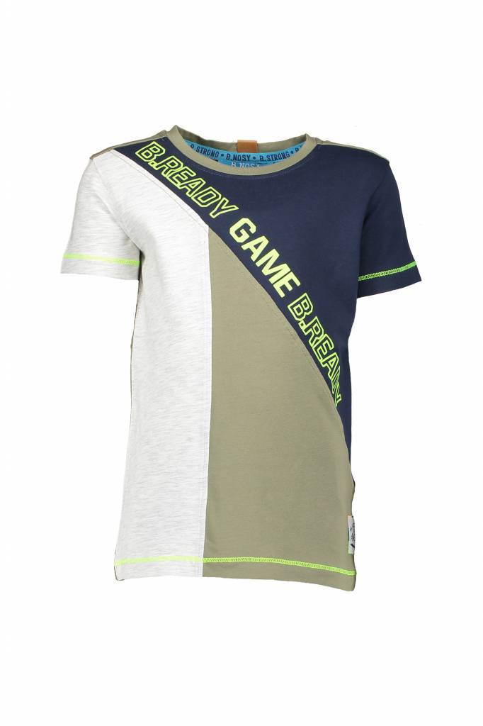 B.Nosy B.Nosy T-shirt with different parts fern green