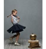 Le Chic Le Chic jurkje petticoat heart of gold blue navy