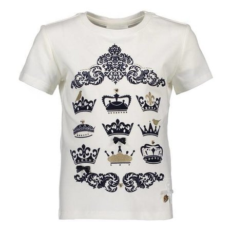 Le Chic Le Chic T-shirt royal crowns off white