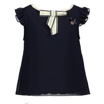 T-shirt fancy voile blue navy