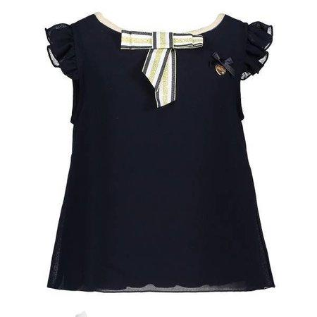 Le Chic Le Chic T-shirt fancy voile blue navy