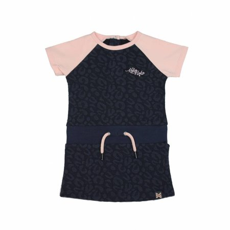 Koko Noko Koko Noko jurk dark blue + light pink