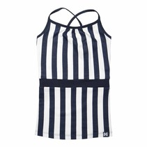 Jurk navy stripe