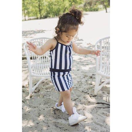 Koko Noko Koko Noko jurk navy stripe
