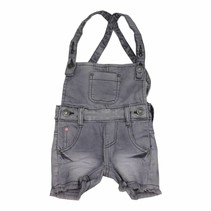 Korte tuinbroek grey denim