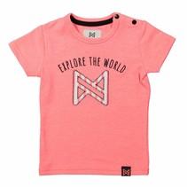 T-shirt baby neon peach