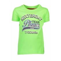 T-shirt neon team player green gecko