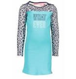 B.Nosy B.Nosy jurk with contrast print sleeves hot turquoise