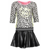 Jurk skater with coated skirt part white panther black/ alloy ao