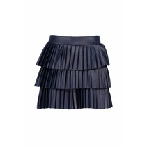 Rokje pleated layered midnight blue
