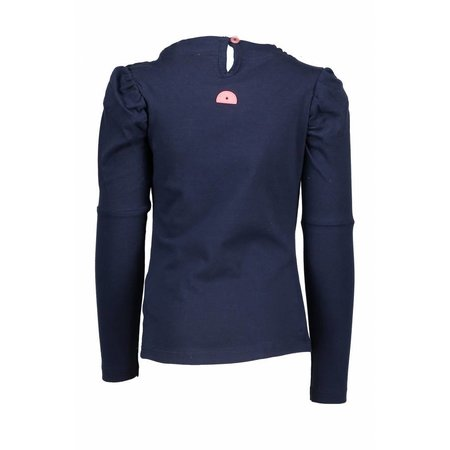 B.Nosy B.Nosy longsleeve with round smock part at neck midnight blue