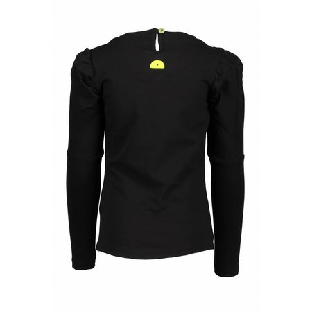 B.Nosy B.Nosy longsleeve with round smock part at neck black