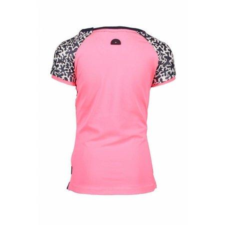 B.Nosy B.Nosy T-shirt raglan stripe with star print sleeves, contrast back panel midnight/white