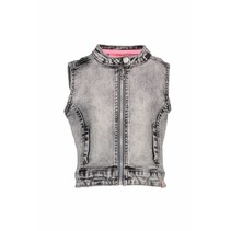 Gilet grey denim