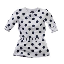 Jurkje Maan bright white navy dot