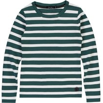 Longsleeve Bella emerald green stripe