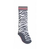 Kniekousen Silke grey zebra