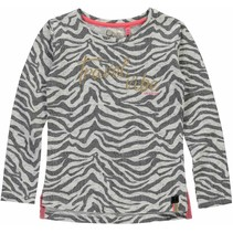 Longsleeve Saskia grey zebra