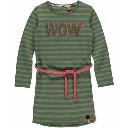 Quapi Quapi jurk Samantha dusty olive stripe