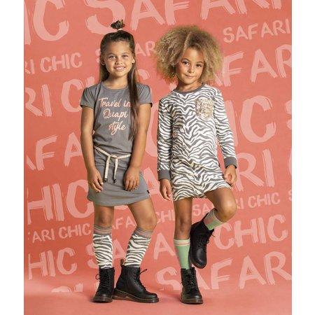 Quapi Quapi jurk Sabien grey zebra