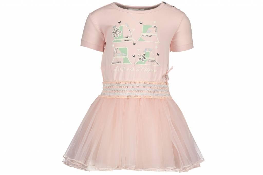 Le Chic Le Chic jurkje petticoat dress powder blush