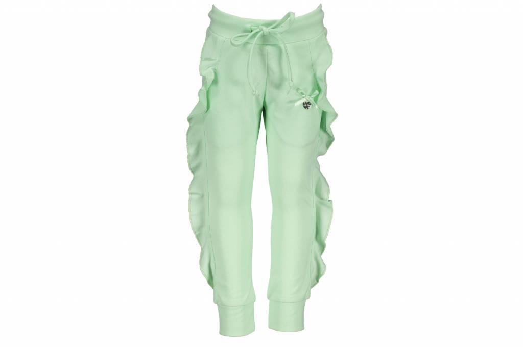 Le Chic Le Chic broek ruffle in cutseams misty green