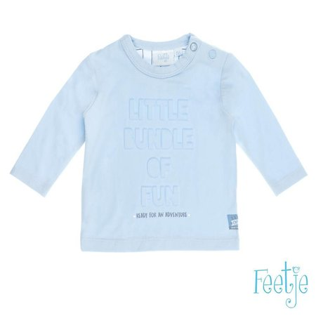 Feetje Feetje longsleeve little bundle happy camper blauw