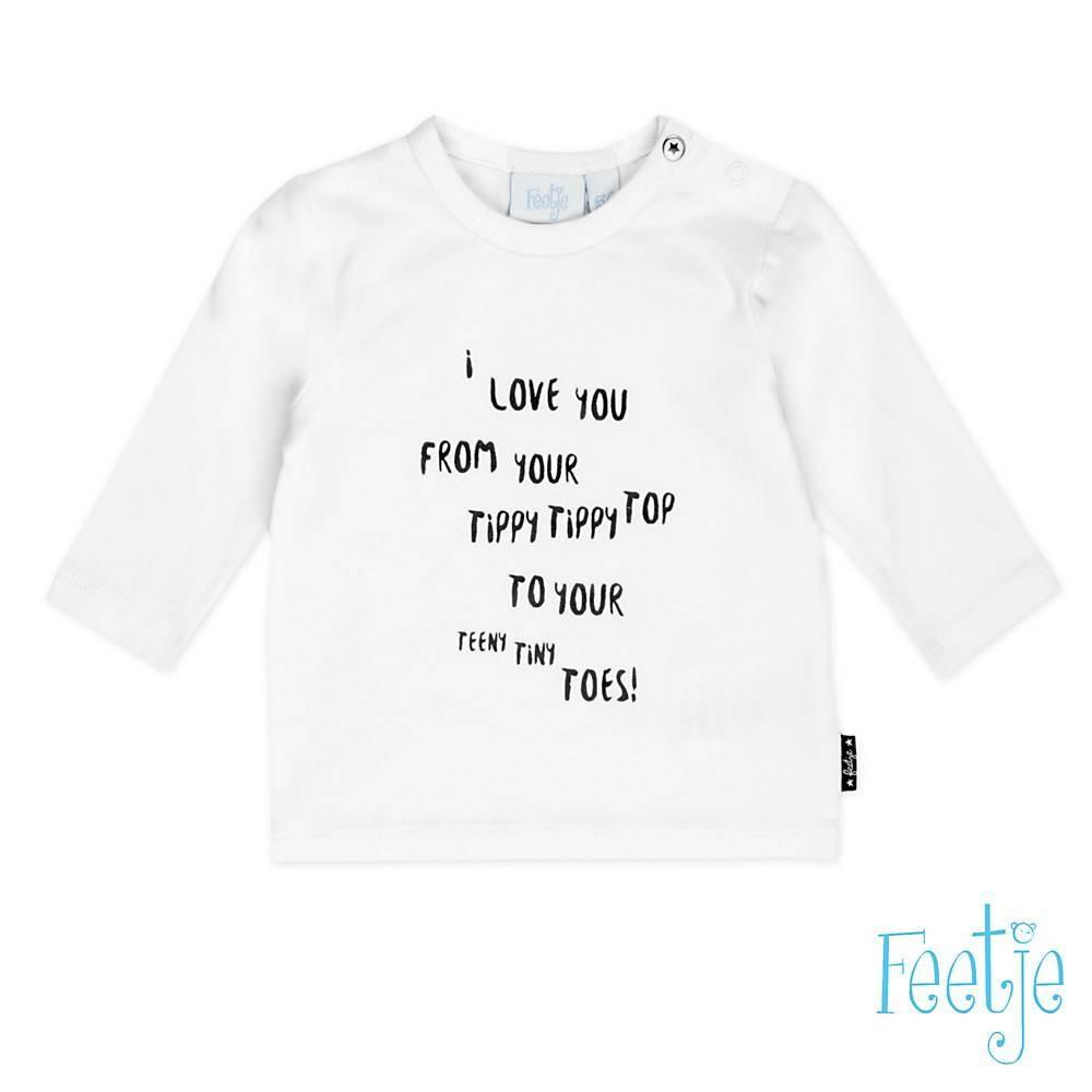 Feetje Feetje longsleeve love you made with love wit