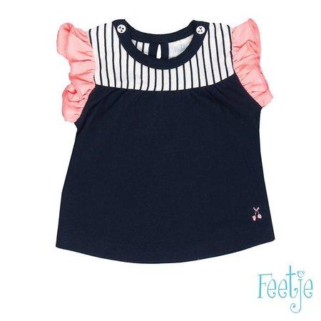 Feetje Feetje T-shirt kapmouw cherry sweet marine
