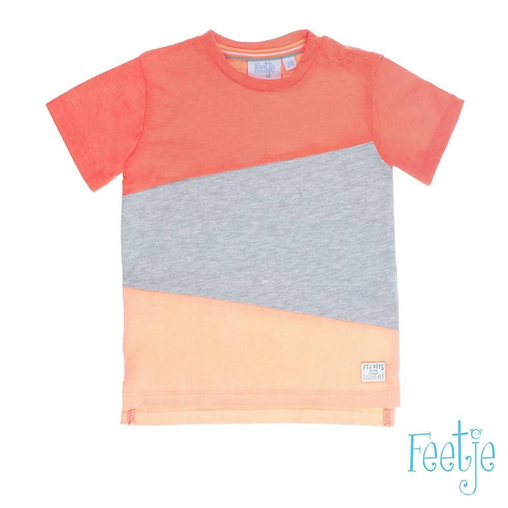 Feetje Feetje T-shirt panels pool party neon oranje