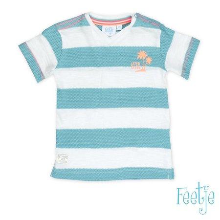 Feetje Feetje T-shirt streep pool party mint
