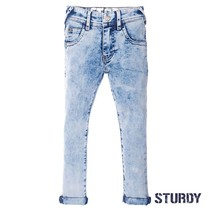 Spijkerbroek light blue slim fit denim