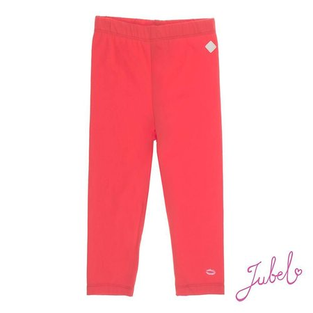 Feetje Jubel legging uni sea view rood