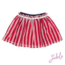 Rok tule stripe sea view rood