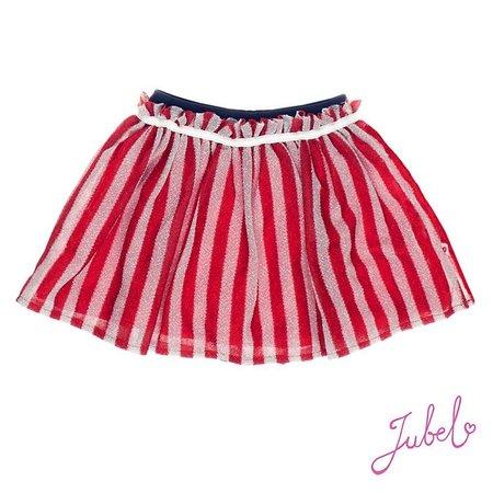 Jubel Jubel rok tule stripe sea view rood