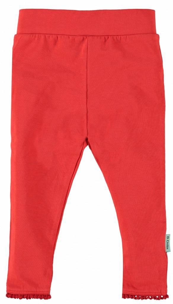 O'Chillie O'Chillie legging rood Mirthe