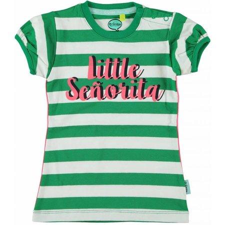 O'Chillie O'Chillie jurkje groen/wit gestreept Amy