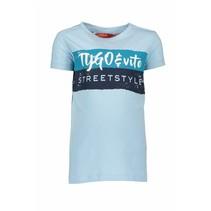 T-shirt streetstyle light blue