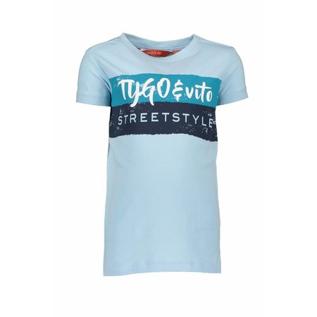 TYGO&vito TYGO&vito T-shirt streetstyle light blue