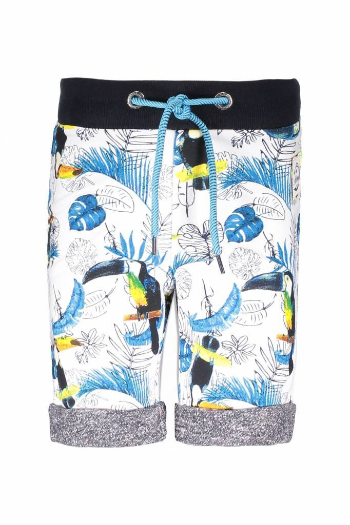 B.Nosy B.Nosy short with ao print toucan ecru melee