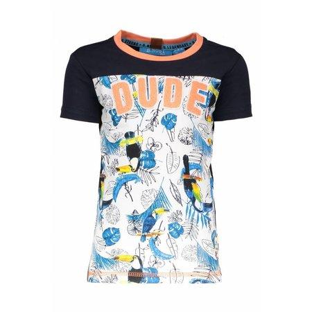 B.Nosy B.Nosy T-shirt with ao print toucan ecru melee