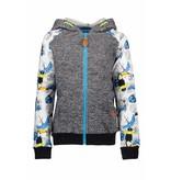 B.Nosy B.Nosy vest with hood toucan ecru melee ao