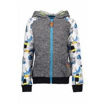 Vest with hood toucan ecru melee ao