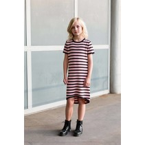Jurk Berta nylon old pink stripe