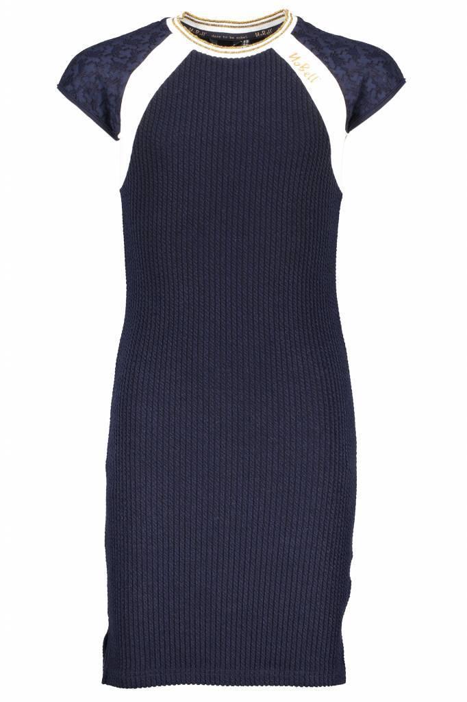NoBell' NoBell' jurkje Maura fitted lace raglan sleeves navy blazer