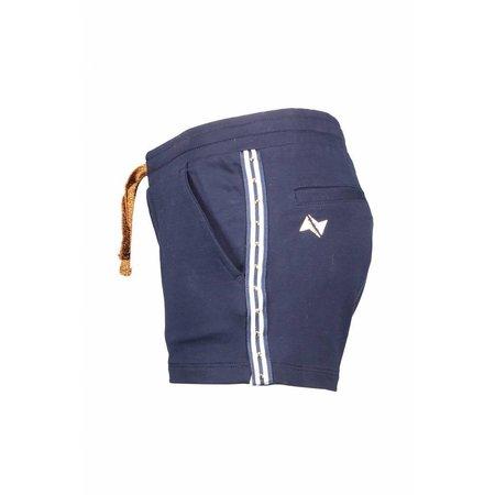 NoBell' NoBell' short sweat stripes side seam navy blazer