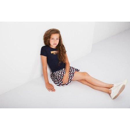 NoBell' NoBell' T-shirt Kanou lace sleeves navy blazer