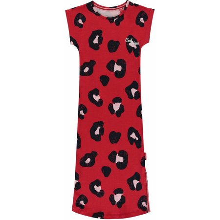 Quapi Quapi jurk Sterre rouge red leopard