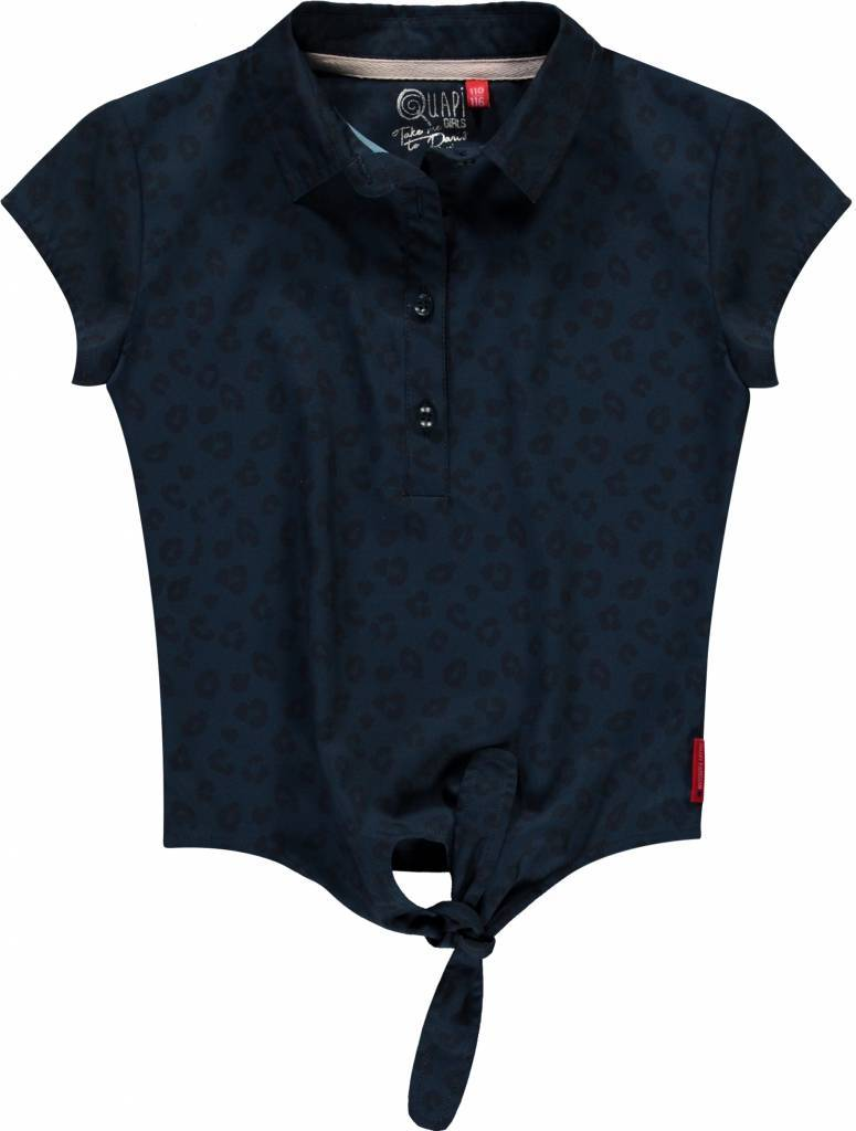 Quapi Quapi blouse Sita navy leopard